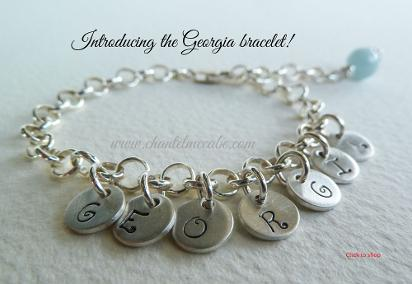 customised jewellery Perth silver name bracelet